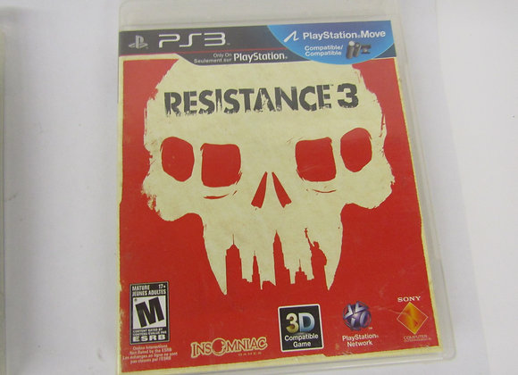 Resistance 3 - PS3 Video Game - Used Good Condition