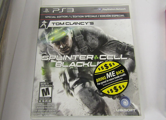 Splinter Cell BlackList - PS3 Video Game - Used Good Condition