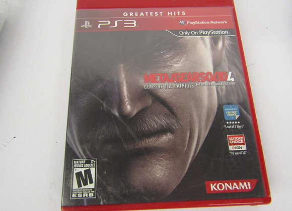 METALGEARSOLID 4 GUNS OF THE PATRIOTS - PS3 Video Game - Used - Good Condition