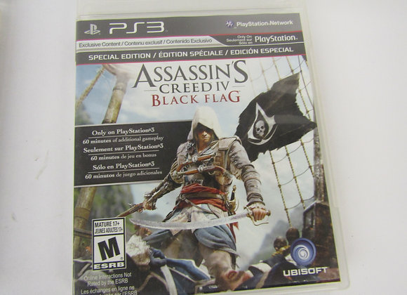 Assassins Creed Black Flag -PS3 Video Game - Used - Good Condition