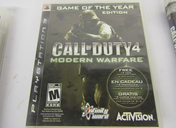 Call of Duty 4 Modern Warfare - PS3 Video Game - Used - Good Condition