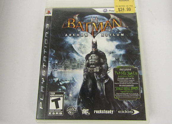 Batman Arkham Asylum - PS3 Video Game - Used - Good Condition