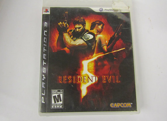 Resident Evil 5 - PS3 Video Game - Used - Good Condition