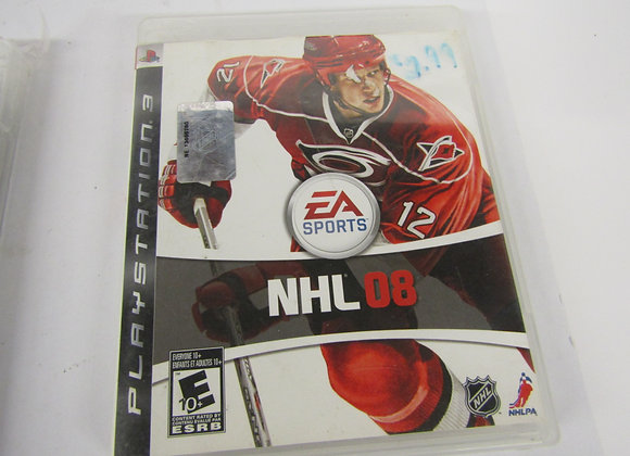 NHL 08 - PS3 Video Game - Used - Good Condition