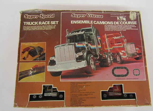 Super Speed Trucks - Slot Car Set - Vintage
