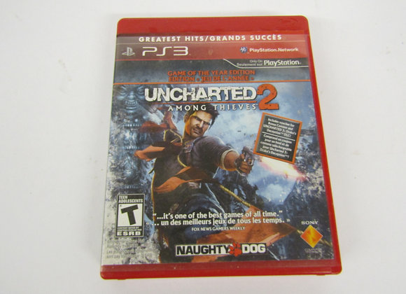 Uncharted 2 Among Thieves - PS3 Video Game - Used Good Condition