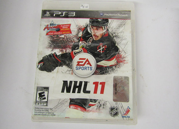 NHL 11 - PS3 Video Game - Used good condition