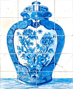 Blue Delft Tile - Acrylic paint