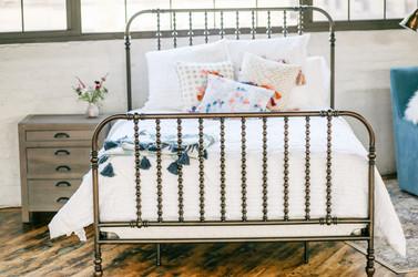 iron bed industrial anthropologie su casa