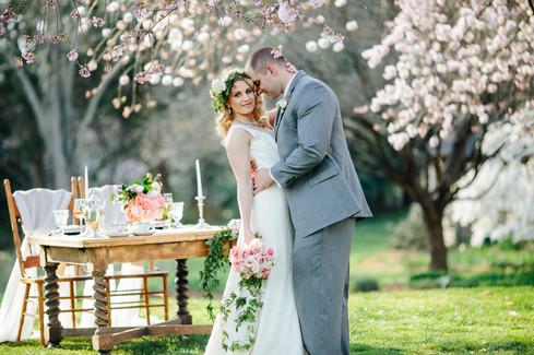 cherry blossom  styled shoot  wedding  spring  maryland
