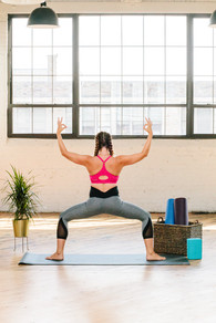 yoga  fitness  athletic wear  industrial styled shoot