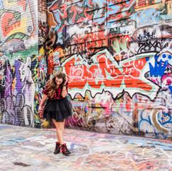fashion blogger branding graffitti alley  baltimore maryland