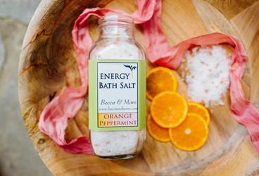 brand pink orange white natural bath flat lay