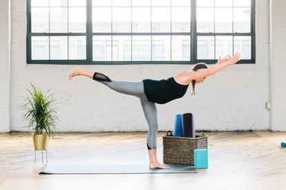 industrial styled yoga  minimulist set styling windows baltimore
