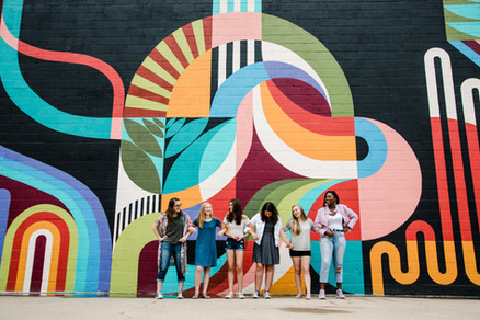 best friends bold colorful baltimore maryland shoot