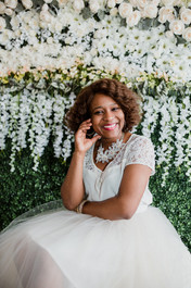 flower wall   event  backdrop greenery baltimore creatives  branding styled shoot
