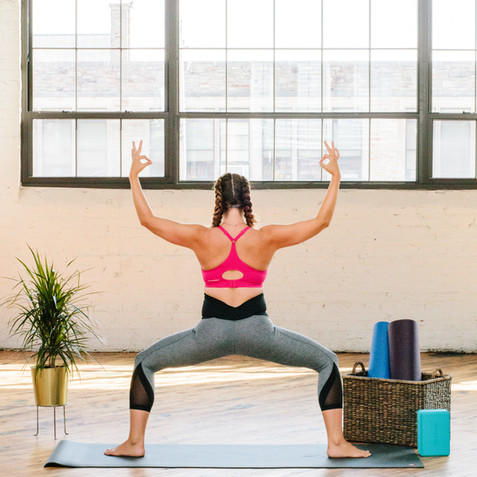 styled shoot industrial yoga