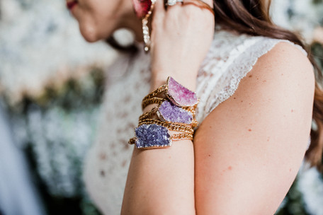 fashion shoot  jewelry  holy glam  baltimore maryland bracelets  crystals  pinks purples  amethyst