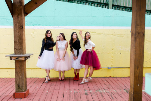 babes baltimore bloggers valentines friends pink red white tulle skirts high heels fashion