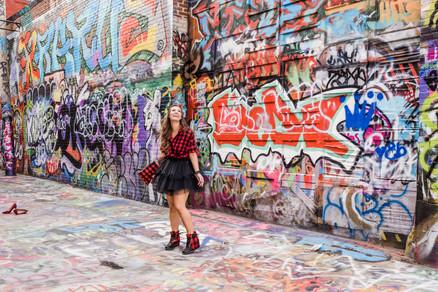 grafitti alley fashion style buffalo plaid tulle skirt baltimore maryland