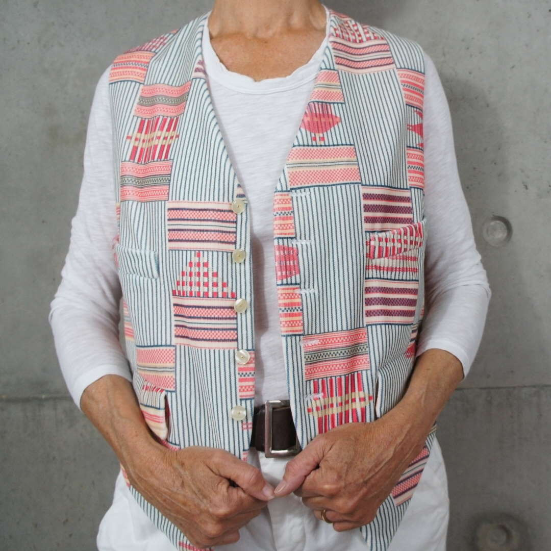Coral Beach velvet waistcoat