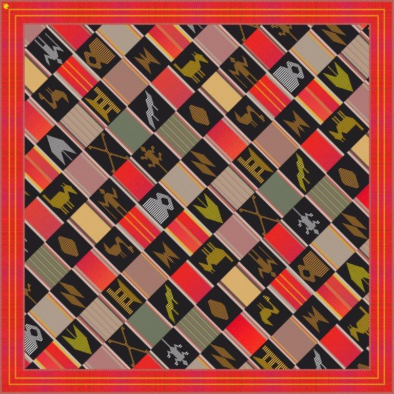 Regal Red 90cm square scarf