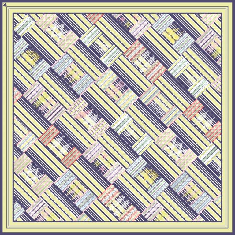 Lemon Zest 90cm square scarf