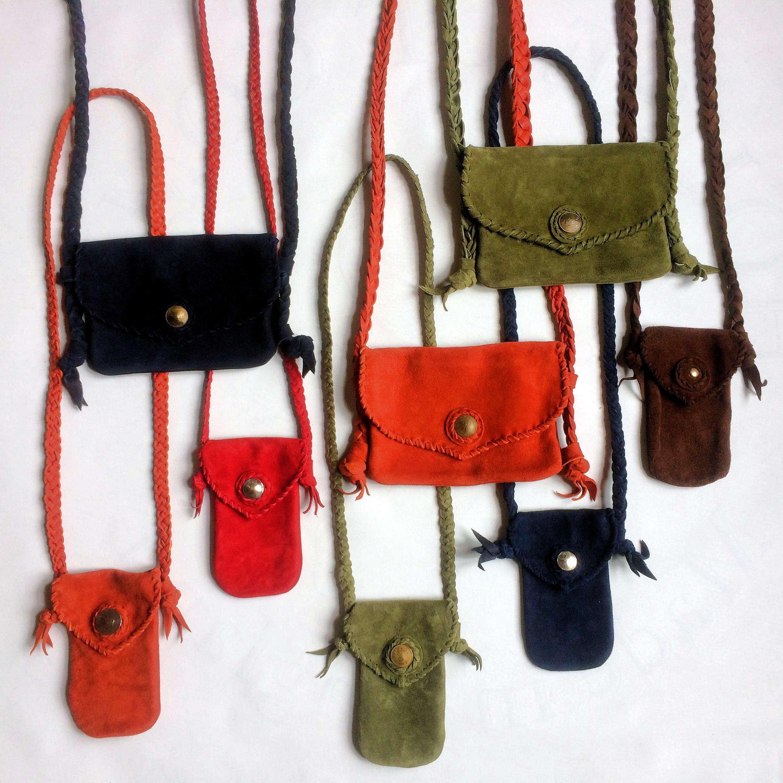 Suede shoulder & mobile phone bags