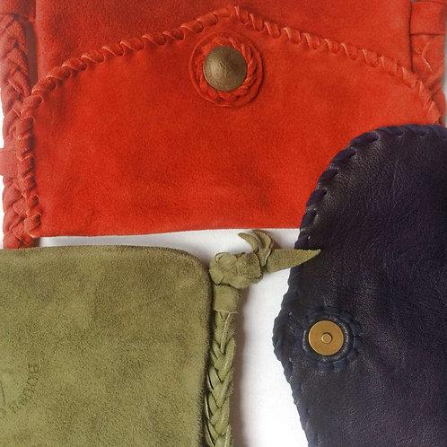 Suede plait shoulder bag