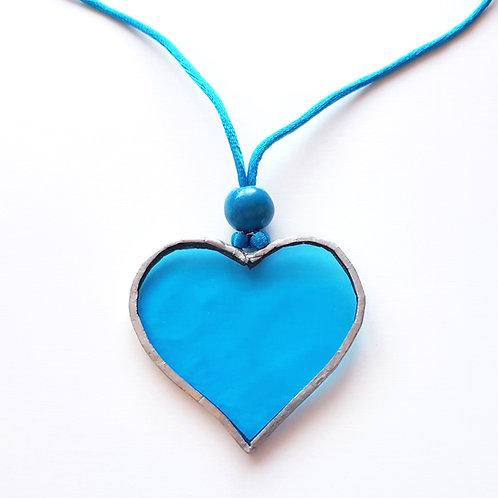 Colgante CORAZÓN Azul Turquesa