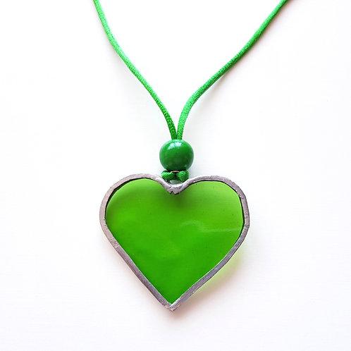 Colgante CORAZÓN Verde