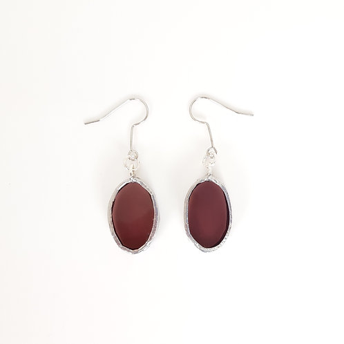 O22 earrings MAUVE