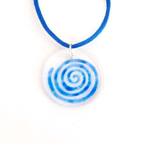 Blue SPIRAL Pendant