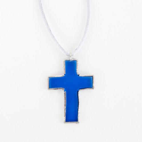 Colgante LA CRUZ Azul