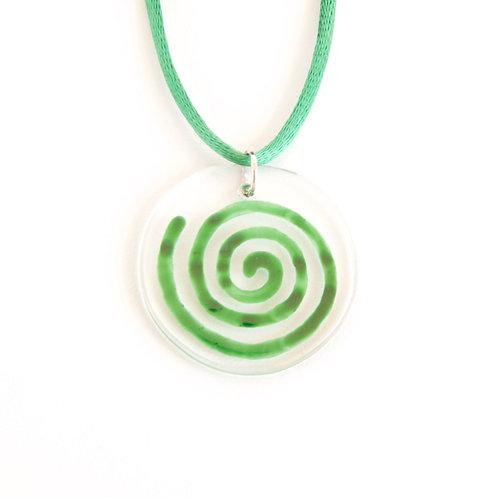 Green SPIRAL Pendant