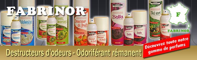 FABRINOR Destructeur d'odeurs odoriférant rémanent