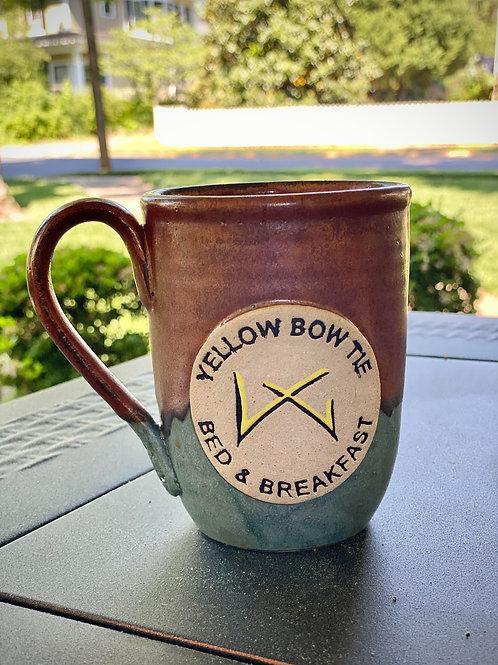 Yellow Bow Tie Wide Body Copper & Blue Mug