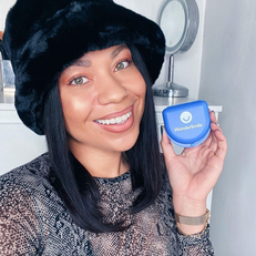 """I can't believe it's already time to begin stage 4 of my WonderSmile aligner journey! Took a couple of days to get used to wearing them, but now I can barely notice they're there. I'm so excited to see my results at the end!"" - @paige_mariah"