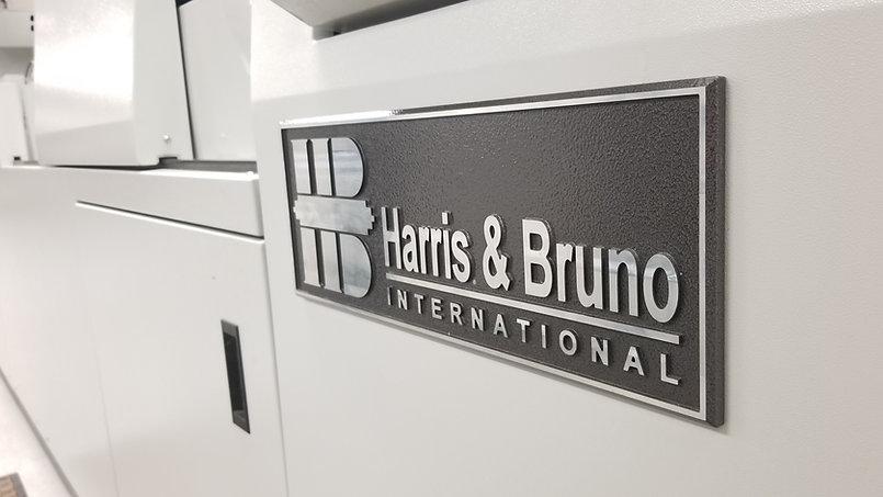 H&B Logo Name Plate Angle