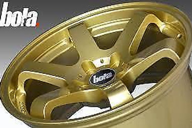 "18"" BOLA B1 GOLD ALLOY WHEELS 5X108 FORD KUGA"
