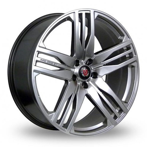 "22"" AXE EX22 ALLOY WHEELS FINISHED IN HYPER SILVER RANGE ROVER FITMENT."