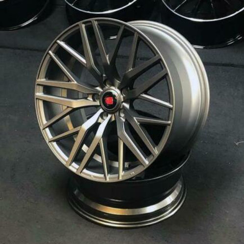 "20"" BMW E93 ALLOYS & TYRES WITH WIDER CONCAVE REARS AXE EX30 IN GUNMETAL"