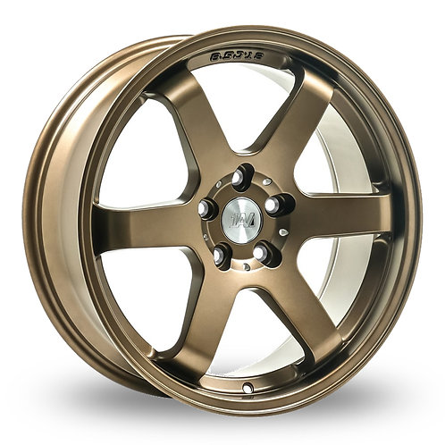 """18"""" FORD FOCUS 1AZ ZX6 JDM STYLE ALLOY WHEELS AND TYRES IN SATIN BRONZE"""