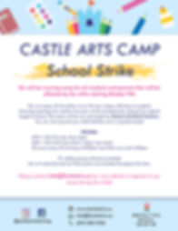 Camp for strike with info_castlearts.ca.