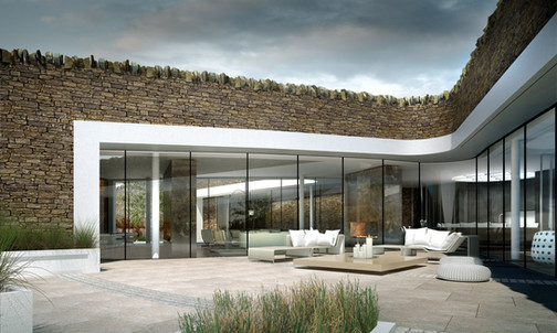 Bolton Eco House - Terrace.