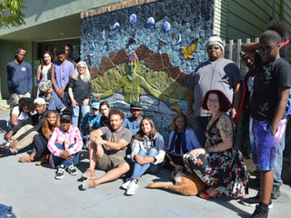 The Visions of Mother Nature Relief Mural and Bench at Youth Spirit Artworks are  Completed!!