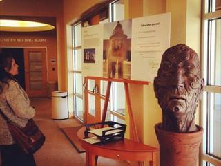 """Neo Moai"" at the Orinda Public Library"