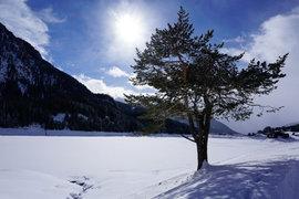Davoser See im Winter
