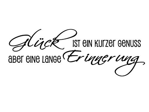 """Holzstempel by Isa """"Glück ist ein kurzer Genuss"""" 8x3cm"""