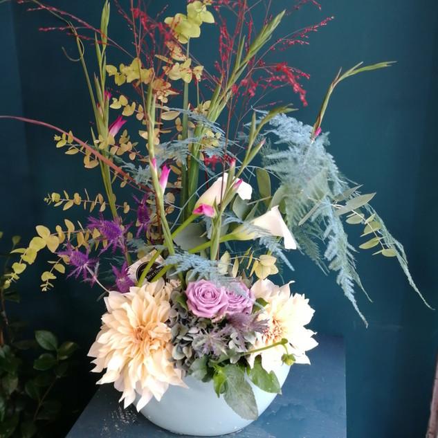 Arrangement floral pour entreprise